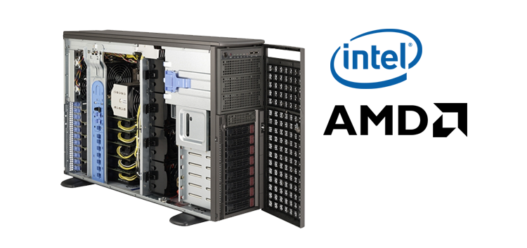 High Performance Workstation powered by Intel or AMD processors