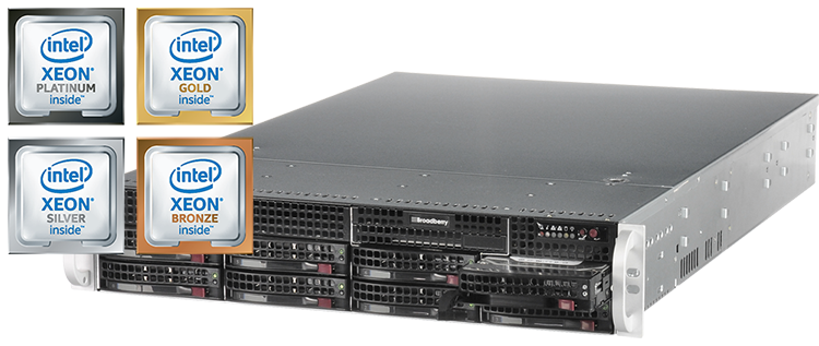 cyberserve server with bronze, silver, gold and platinum intel xeon scalable processors
