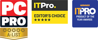 PC Pro A-List, IT Pro editors choice and IT PRO product of the year awards